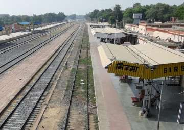 Deserted view of Sirsa Station after curfew in...