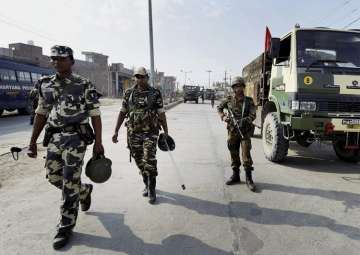 Army personnel take positions near Dera Sacha...