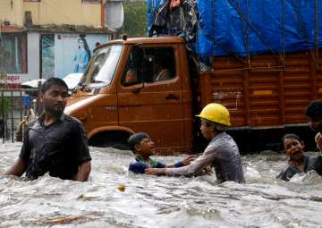 Four washed away after flooding due to heavy...