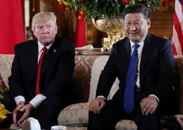 File pic of Donald Trump and Xi Jinping - India...