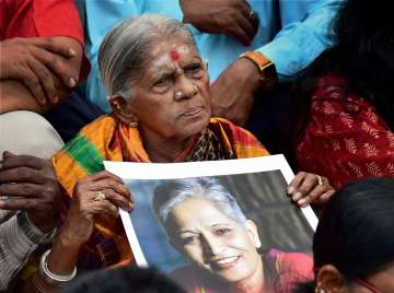 The killing of Gauri Lankesh has sparked protests...