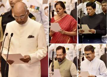 President administers oath to the newly inducted...