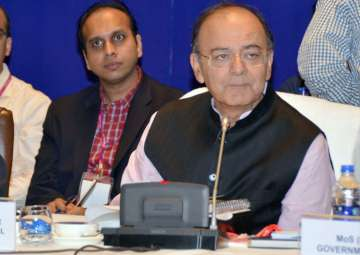 Arun Jaitley at the 21st GST Council meet in...
