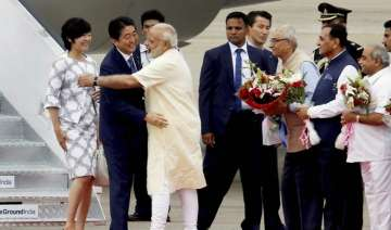 Japanese PM Shinzo Abe with Narendra Modi