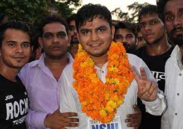 File pic - NSUI's Rocky Tusheed won president's...