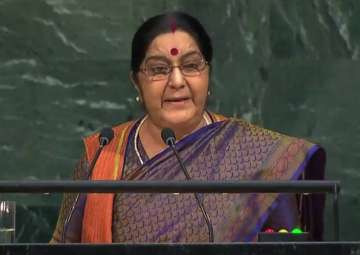 Sushma Swaraj at United Nations General Assembly ...