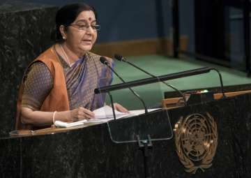 Sushma Swaraj at UNGA - India TV