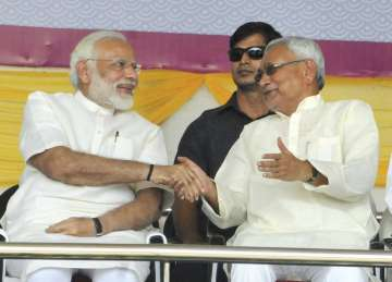 Nitish Kumar and PM Modi