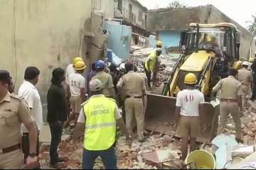 Bengaluru building collapses after LPG cylinder...