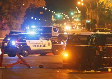 Canadian policeman, four others attacked in...