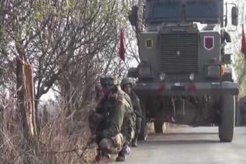 Deferred visuals from Budgam encounter in Kashmir...