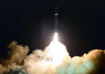 File pic - North Korea launches Hwasong-15 --...