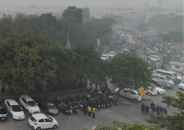 View of the Central Park at Rajiv Chowk,...