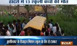 13 school children killed, several others injured as train