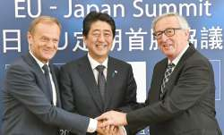 European Council President Donald Tusk, Japanese Prime
