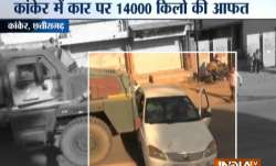 Watch Video | Chhattisgarh: Army truck drags car for