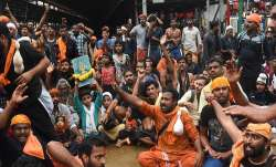 A massive protest by devotees of Lord Ayyappa broke out