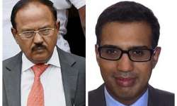 Ajit Doval and son Vivek Doval.