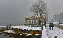 Srinagar recorded a minimum temperature of minus 2.0