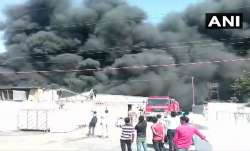 Fire ripped through a private factory in Greater Noida