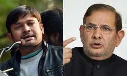 Kanhaiya Kumar and Sharad Yadav