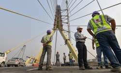 Metal wire breaks off from Delhi's Signature Bridge,