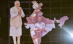 Varanasi: A cutout of Prime Minister Narendra Modi seen at