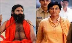 Yoga guru Baba Ramdev andBJP's Bhopal candidate, Malegaon