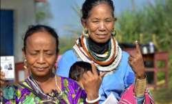 Agartala: Women of a tribal community show their inked