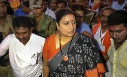 Smriti Irani reaches Amethi, 7 suspects detained in aide's