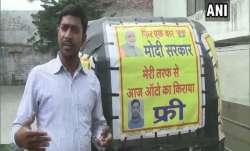 Auto driver Jamuna Prasad is giving free rides till Modi