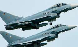 Two German Eurofighter jets collide in midair, pilot dies.