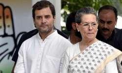 Rahul Gandhi along with Sonia Gandhi