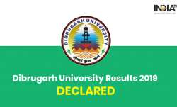 Dibrugarh University Results 2019