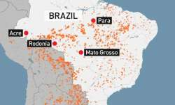 Watch areal view of destruction caused by fires as Amazon