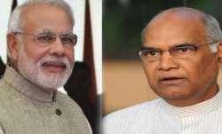 President Ram Nath Kovind, PM Modi greet people on