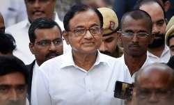 Former finance minister P. Chidambaram