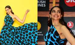 Deepika Padukone stuns in a polka dot gown at the Jio MAMI