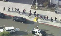 At least 6 injured at high school shooting in California, suspect at large