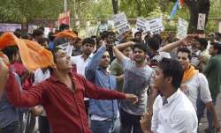 DU student, protesting against 39-storey building in