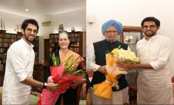 Aaditya Thackeray meets Sonia and Manmohan, invites them for Uddhav's swearing-in