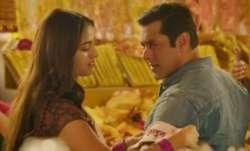 Salman Khan's romantic andaaz with Saiee Manjrekar in Dabangg 3 song Naina Lade