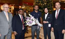 Sri Lankan team arrives for first Test in a decade in Pakistan