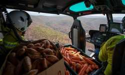Food airdropped for bushfire-affected animals in Australia