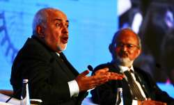 Iranian Foreign Minister Javad Zarif (left) pictured during