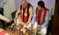 Amit Shah, Manoj Tiwari, delhi assembly election,