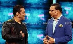 Rajat Sharma and Salman Khan engage in a fun chat in Bigg