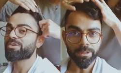 Indian captain Virat Kohli enjoyed a hairstyling session