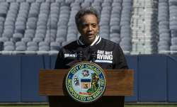 "Mayor Lori Lightfoot announces the ""We Are Not Playing"" campaign during a press conference at Soldie"