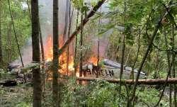 Plane crashes in rural Georgia; 2 children among 5 dead